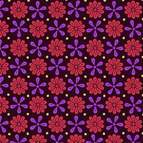 Peoria Re - Flowers (Black)
