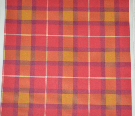 Pinkish Red Purple Gold Plaid