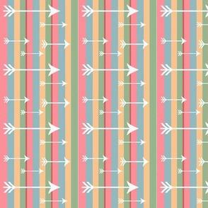 Tiny White Arrows - Multi Coloured