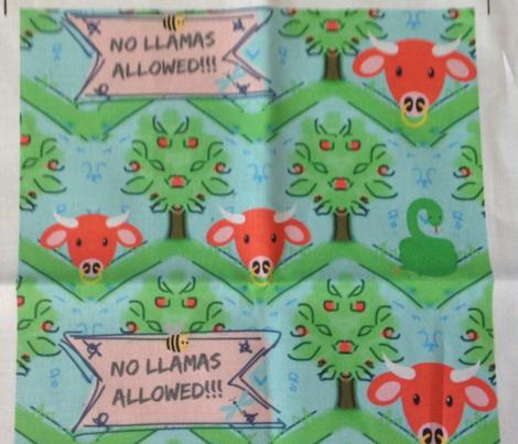 No Llamas Allowed Small