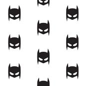 Batman superhero b&w