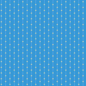 stripes with dots blue yellow