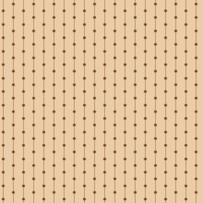 stripes with dots beige brown