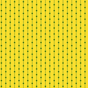 stripes with dots yellow green