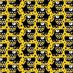 Barking Mad Yellow by Cheerful Madness!!