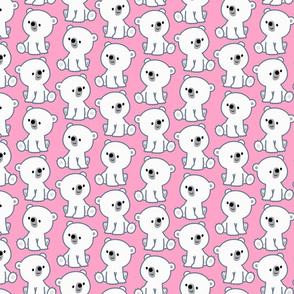 Sweet Cartoon Polar Bear Cub Pink by Cheerful Madness!!