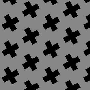 crosses gray large