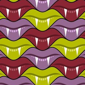 fanged lips 3 - vampire