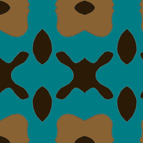 Teal/Black Graphic Tribal