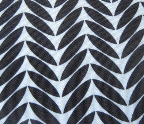 black white leaves