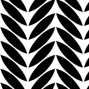 black white leaves