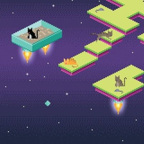 Pixel Cats in Space - Dark