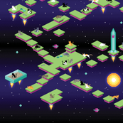 Pixel Cats in Space