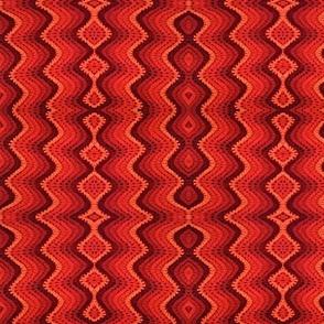 Vintage Bargello Bright Red
