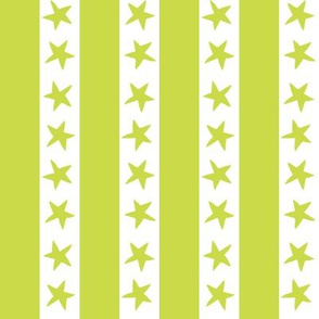 Stars and Stripes - Chartreuse by Andrea Lauren