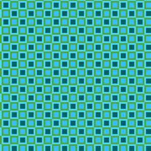 Mod Retro Green and Blue
