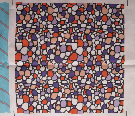 Colored Pebbles in Blues and Oranges
