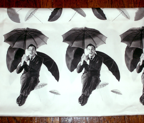 Singin in the Rain Gene Umbrella Border Print