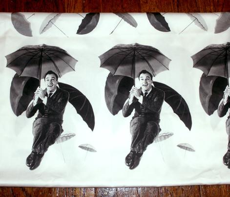Singin in the Rain Gene Umbrella Border Print