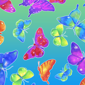 Garden Flyers/Turquoise