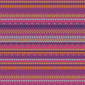 Peruvian stripe on wine red