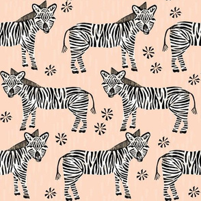 Safari Zebra - Blush by Andrea Lauren