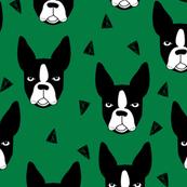 boston terrier - kelly green by andrea lauren
