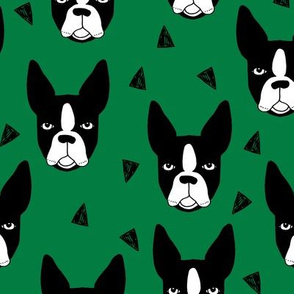 boston terrier // kelly green boston terriers cute dog dog breed fabrics dog