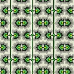 Retro Mod Flower Bright Green