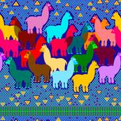 Llama Tribal Stripe