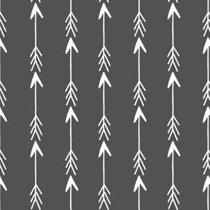Arrows - Charcoal by Andrea Lauren