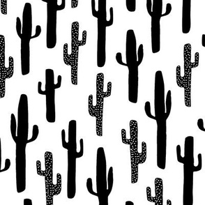 cactus // black and white cacti succulent kids summer exotic tropical