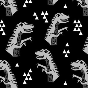 Dinosaurs - Black/Grey/Light Grey by Andrea Lauren