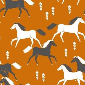 Western Horses - Rust by Andrea Lauren