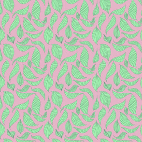 Featherleaf pink and mint by Katrina Ward