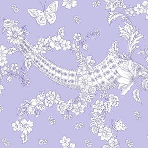 Imma Toile 2 tone blue violet