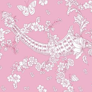 Imma Toile 2 tone sorbet pink