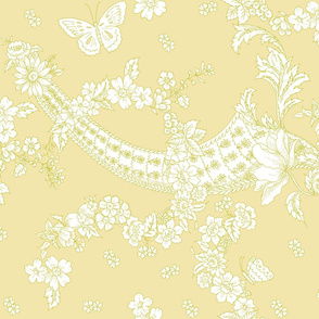 Imma Toile 2 tone buttercup yellow