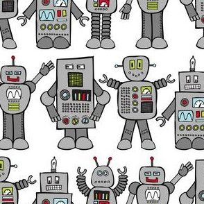 Rows of Robots