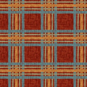 Weathered Plaid - red