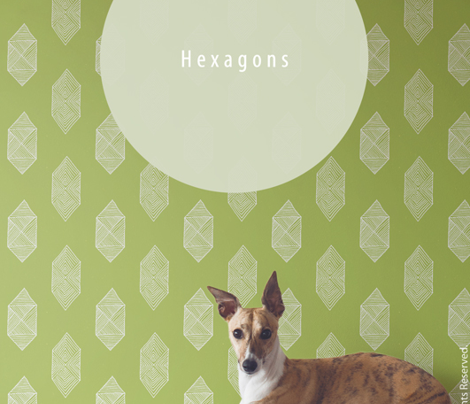 Hexagons in Green by Friztin
