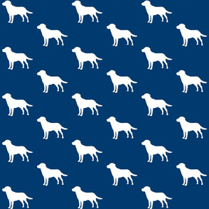 Labrador silhouettes on Navy