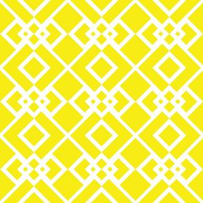 Diamond Trellis Yellow