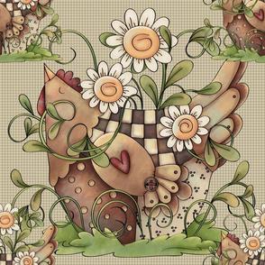 Sweet Daisy Hen Tile