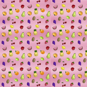 Kawaii Fruits Pink
