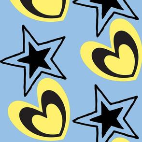 Heart Stars/blue