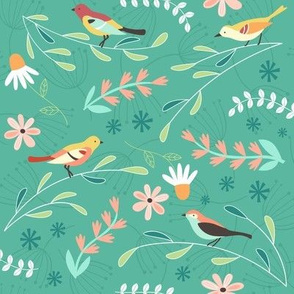 Birds in the Garden