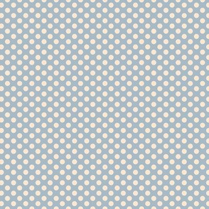 Swimming girls beige dots background blue
