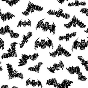 bat // bats geo geometric black and white kids super hero kids nursery scandi bat geo geometric halloween spooky scary fabric by andrea lauren
