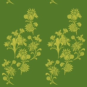 Green Multi-floral